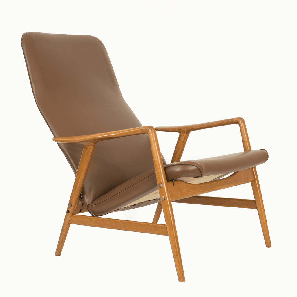 High backed lounge chair was designed by Søren Ladefoged.