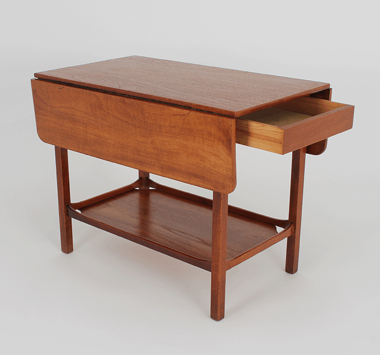 Charmant Danish Modern Drop Leaf Side Table