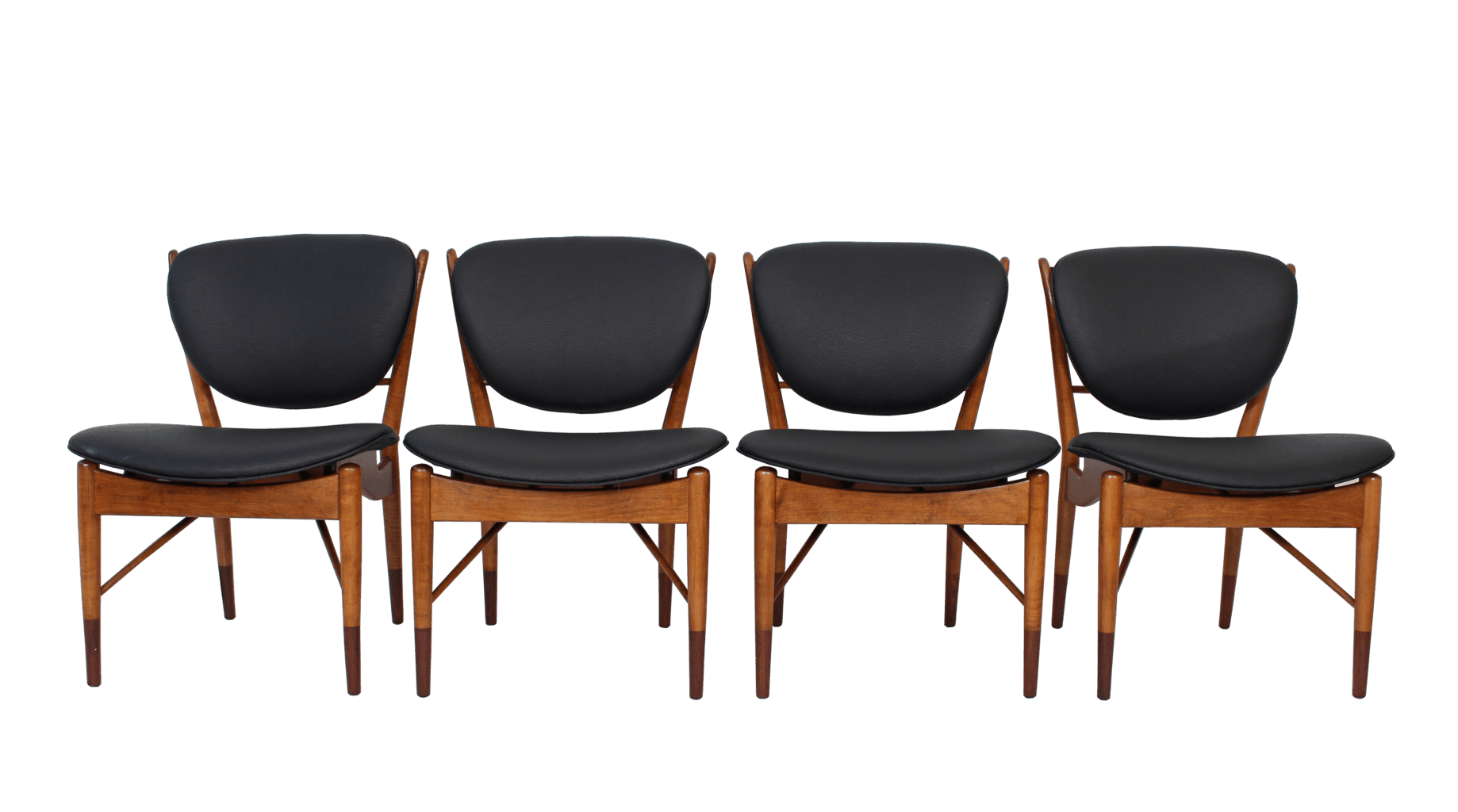 Four Model 51 Dining Chairs by Finn Juhl for Baker