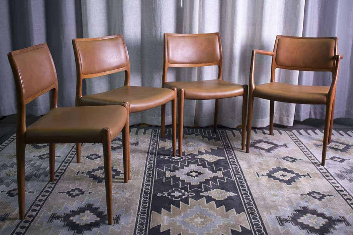 Four Niels Moller Model 80 Dining Room Chairs.