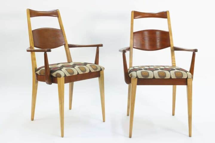 Pair of MCM arm chairs