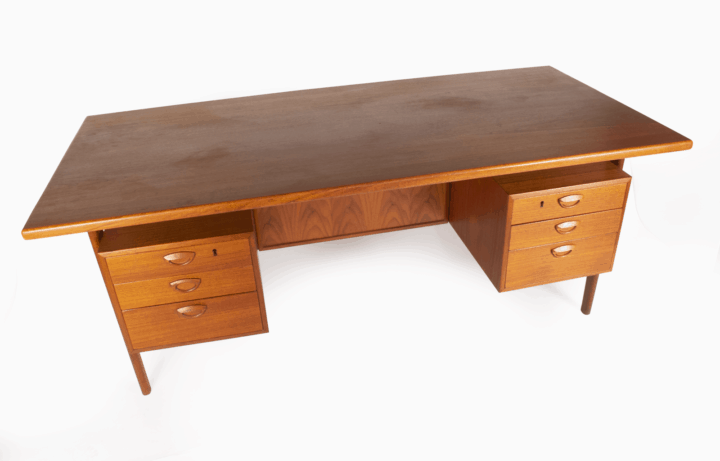 Large Kai Kristiansen Executive Desk.