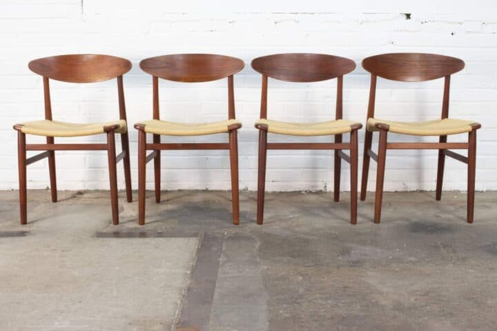 Madsen-Larsen-4 Danish dining chairs.