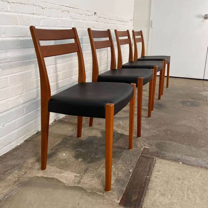 4 teak dining chairs by Svegards Makaryd